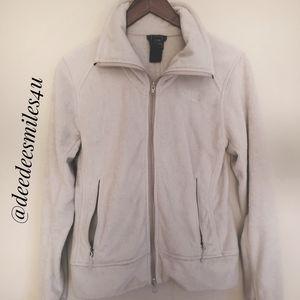 North Face Fleece Gray Jacket, Medium